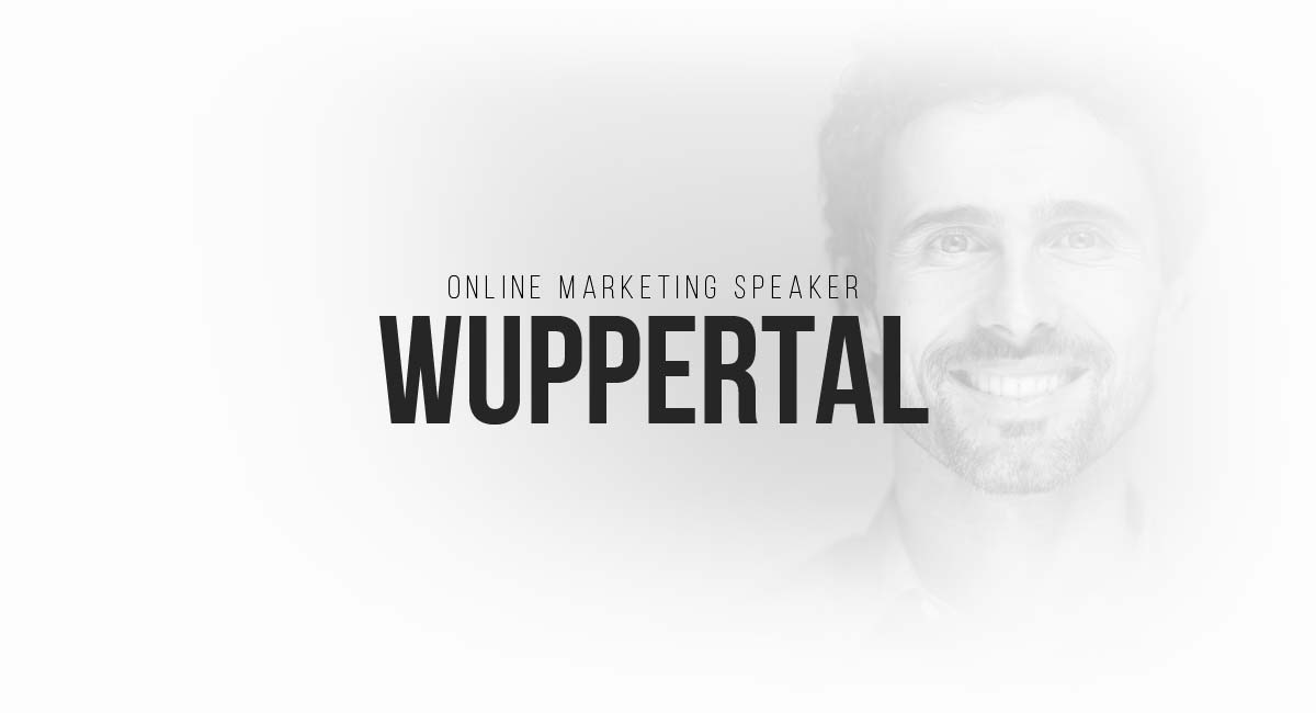 Online Marketing Speaker Wuppertal: Blogger, Targeting in Suchmaschinen, SEO bzw. SEA sowie auch SEM, E-Commerce Tracking, A/B Tests und Werbespots